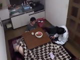 Ocupated With His Phone Stupid Brother Did Not Notice That His Friend Fucking His Slutty Sister