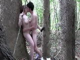 Horny Mom Sucking And Fucking Sons Best Friend In The Woods Behind The Trees
