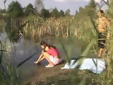 Little Teen Meets Old Pervert While Playing By The Lake All Alone